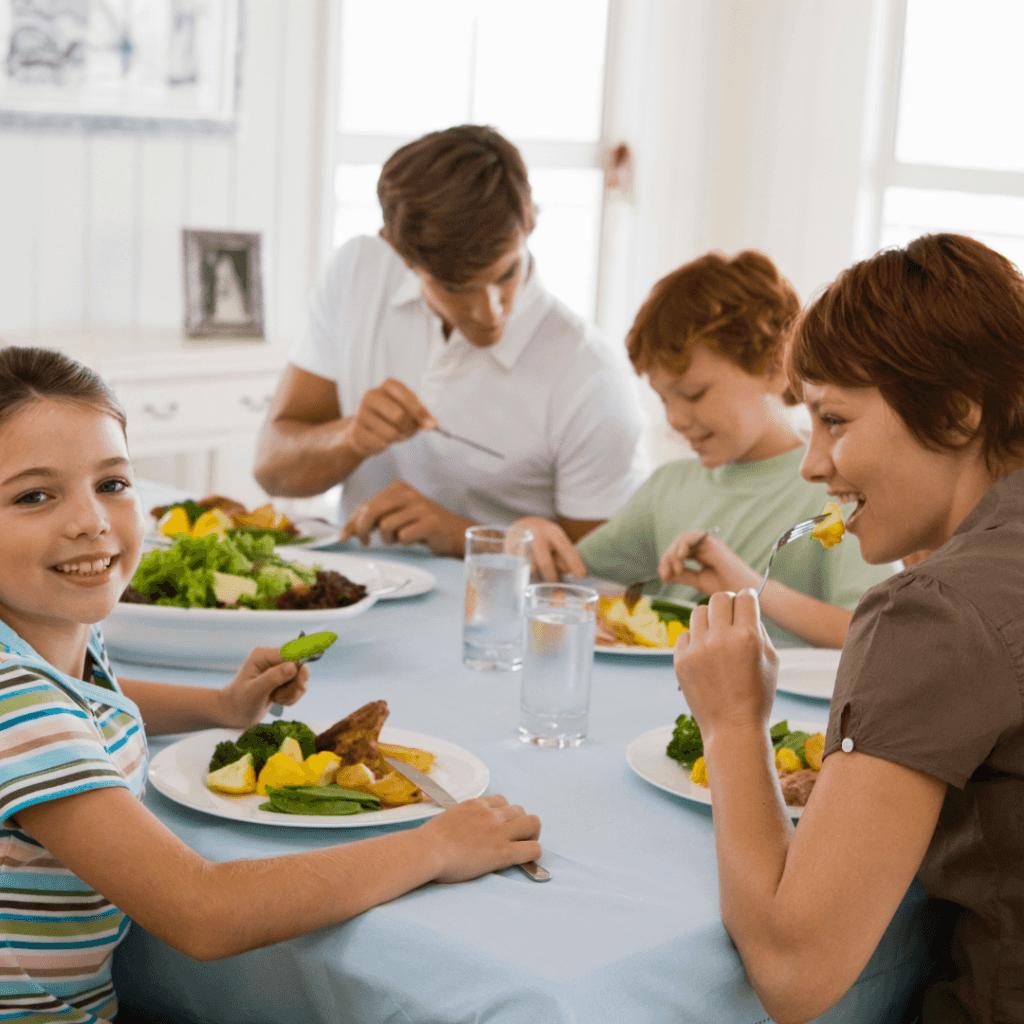 Dieta nutricional para familias