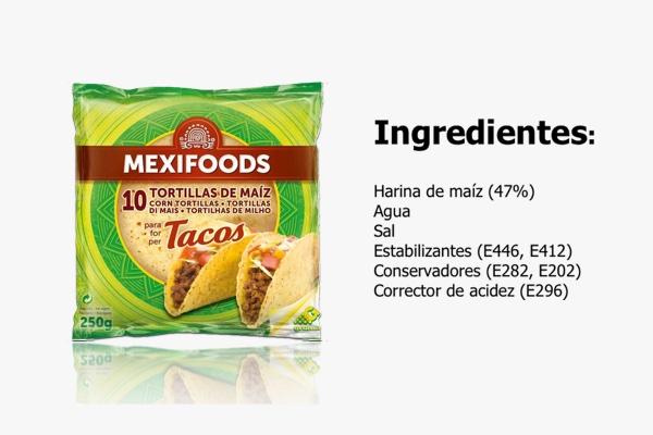 Recomendación Nutrifácil Tacos de maíz mexicanos Mexifoods