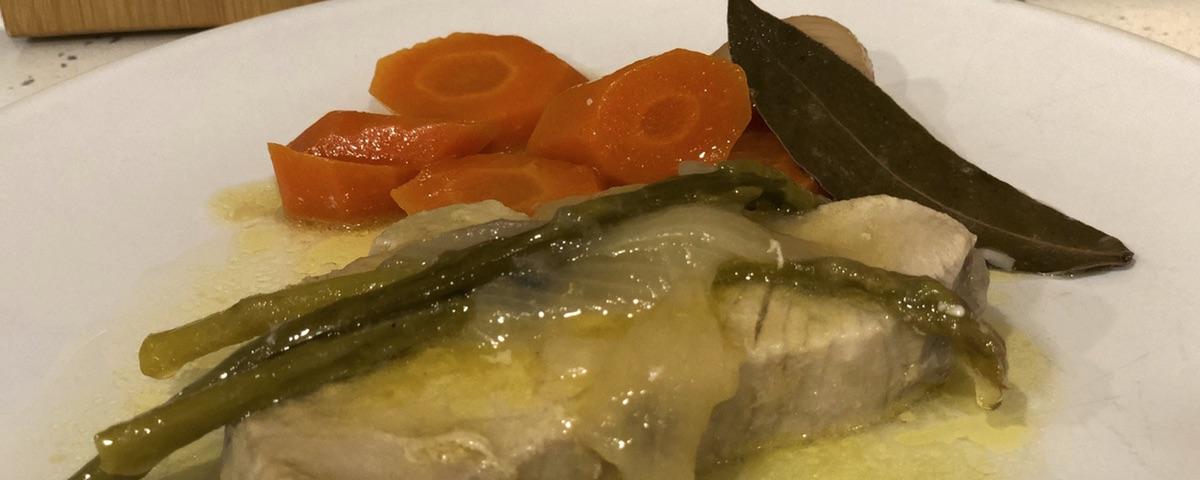 Atun en escabeche con verduras