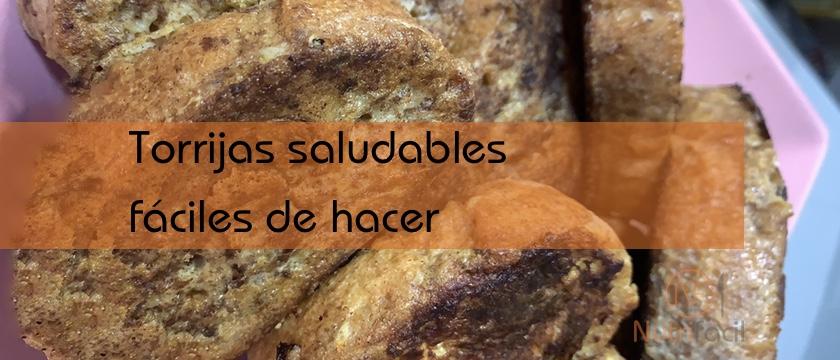 Torrijas saludables con pan integral