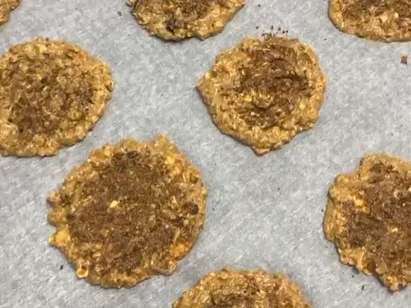 cookies saludables antes de hornear