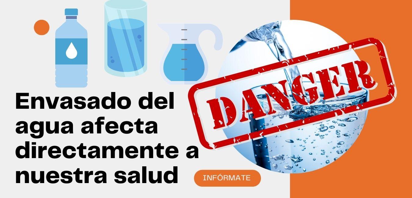 El envasado del agua afecta directamente sobre la salud