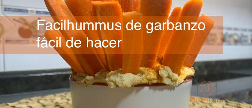 Receta NutriFácil de hummus