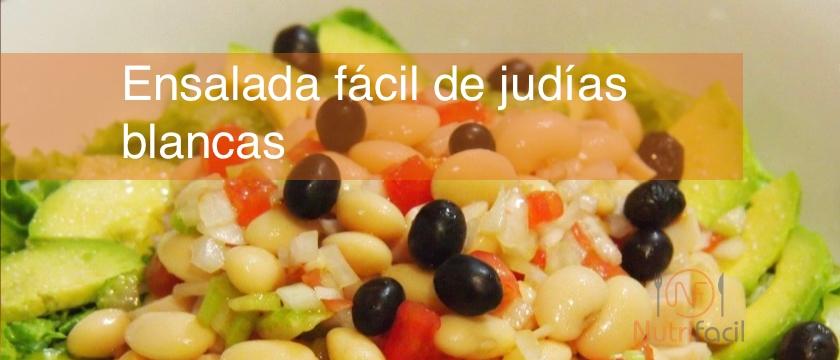 Receta de ensalada fácil de judías blancas