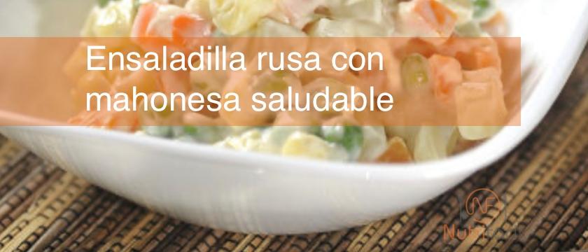 Receta de ensaladilla rusa con mahonesa saludable