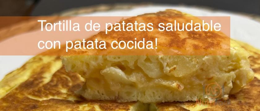 Receta de tortilla de patatas saludable
